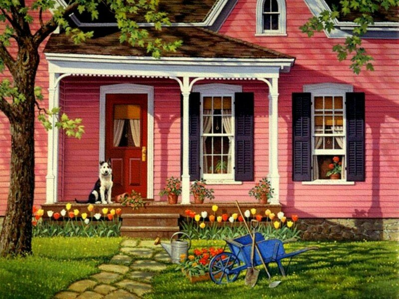 Little pink houses.