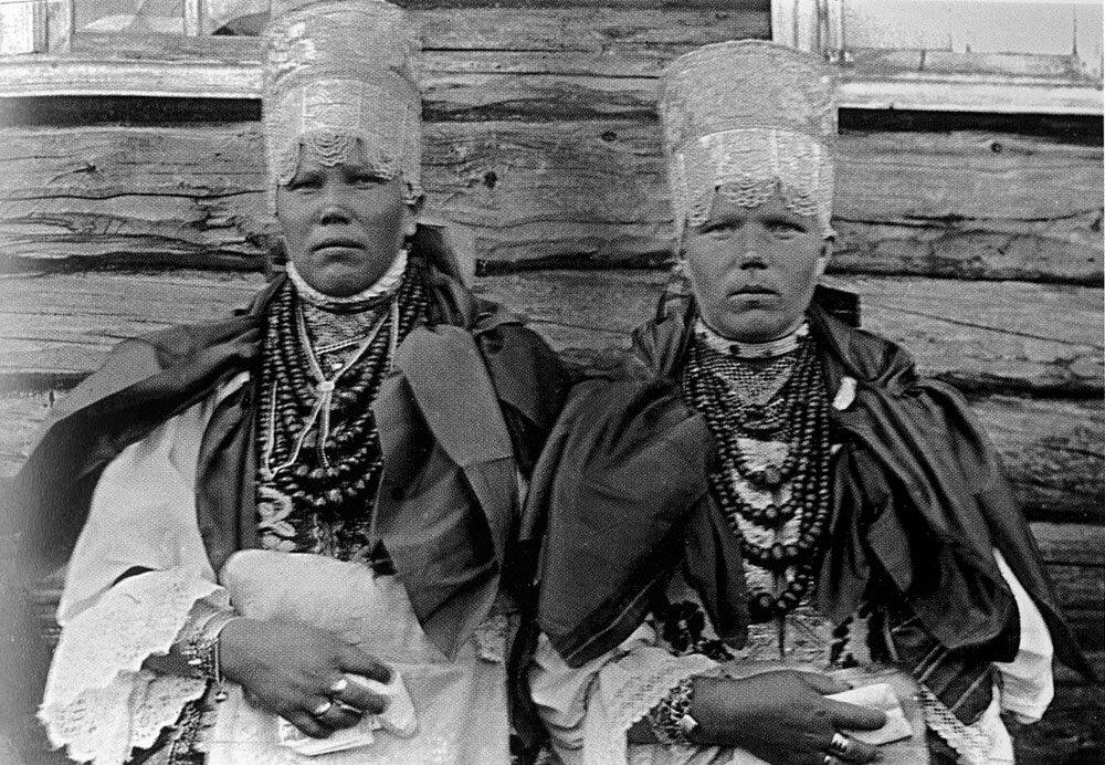 «Повязочницы». Понежский уезд, Архангельская губ. 1927 г.