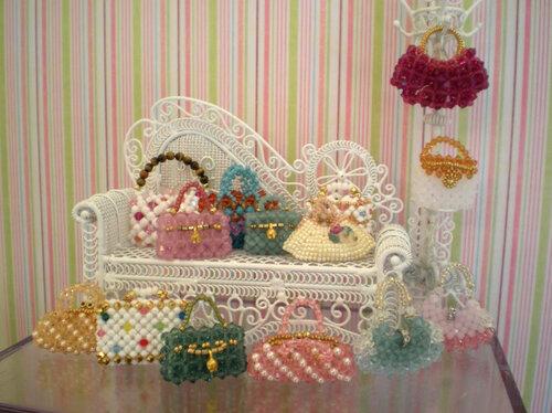 Бисерные мини-сумочки