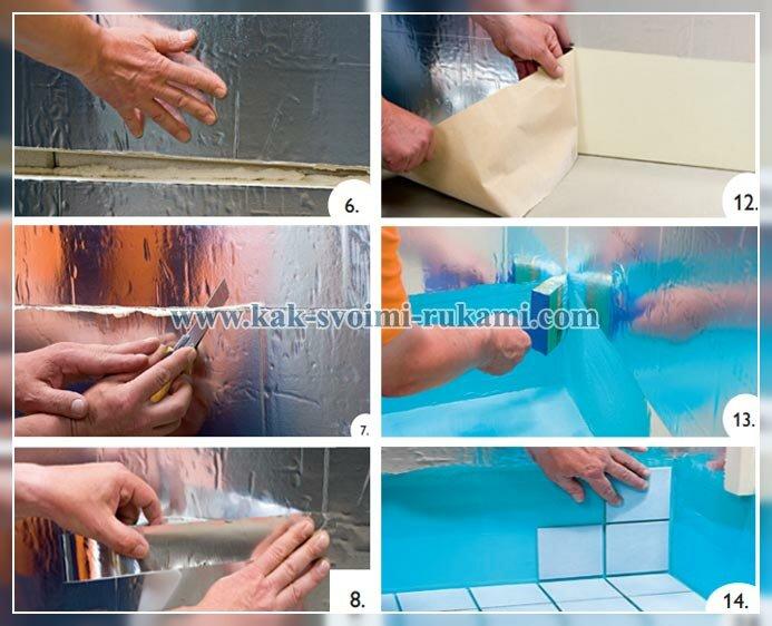 как утеплить стены бани