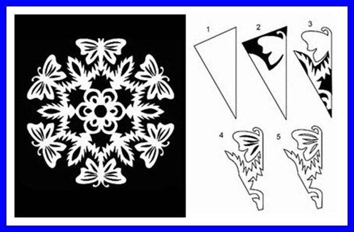 Снежинки и бабочки своими руками