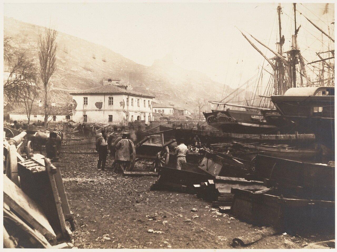 1855. Место выгрузки боеприпасов