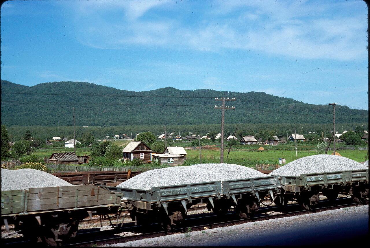 На железной дороге к югу от Хабаровска
