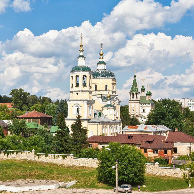 Ильинская (Желтая ) церковь - вид с Красной Горы - Серпухов
