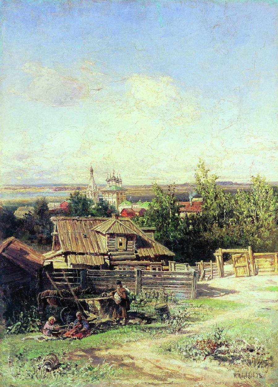 Вид на Волге близ Нижнего Новгорода. 1878 Холст, масло. 69 x 59 см  Ярославский художественный музей.