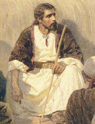 Христос и грешница, деталь