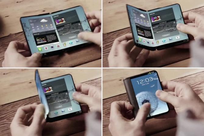 Самсунг  тестирует складные мобильные телефоны  Galaxy X1 иX1 Plus