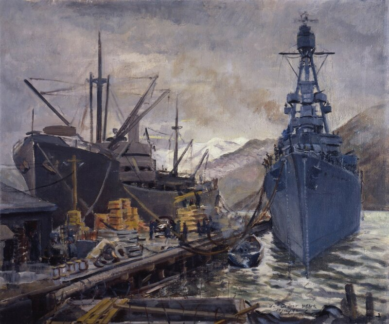 William F. Draper - Fighter and Freighter - Kodiak, Alaska (1942)