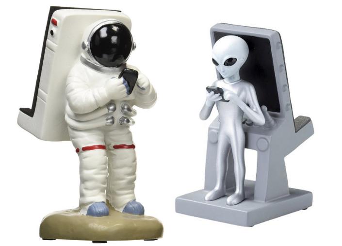 Подставка для смартфона в виде астронавта или инопланетянина .