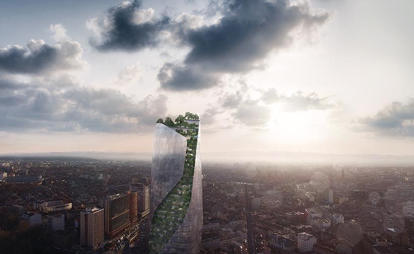 Проект спиральной башни в Тулузе (9 фото)