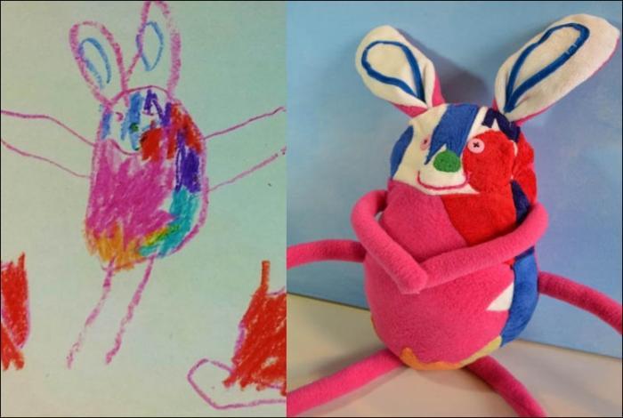 Воплощение ужаса - игрушки сделанные по рисункам детей