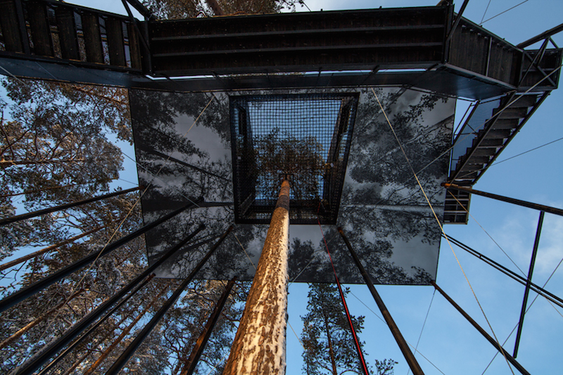 Observe the Aurora Borealis From Snohetta's Swedish Treetop Cabin