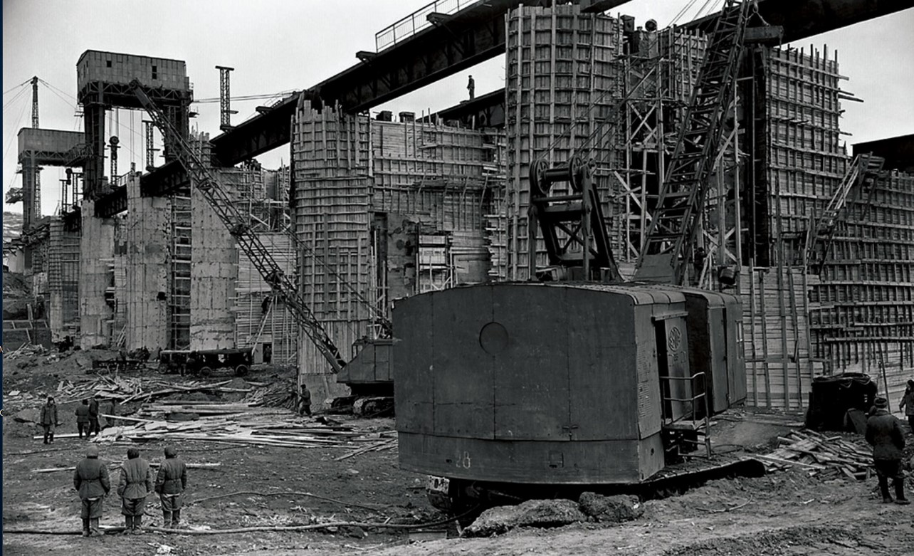Строительство Южноуральской ГРЭС. 1948
