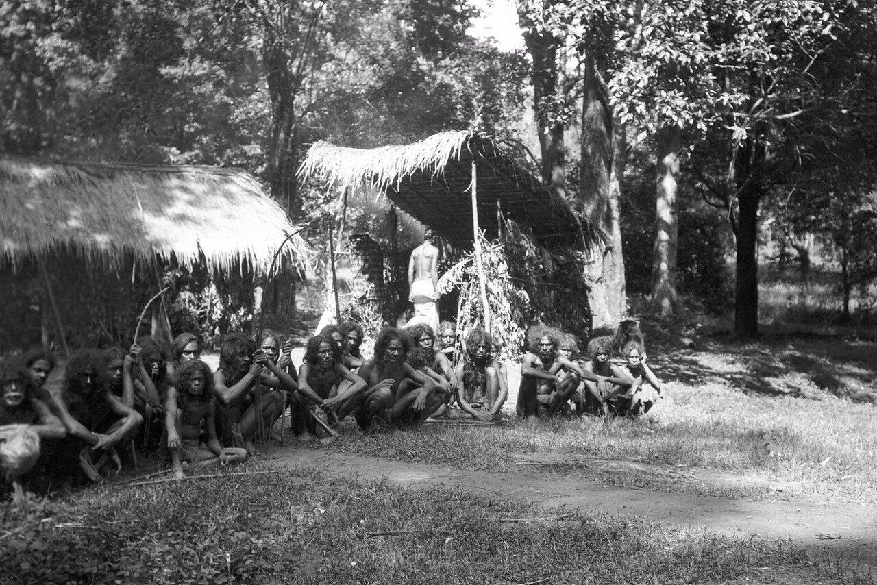 114. Группа веддов. Фотография была сделана при первой встрече с веддами