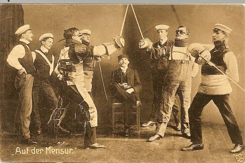 Немецкие фехтовальщики-мазохисты.