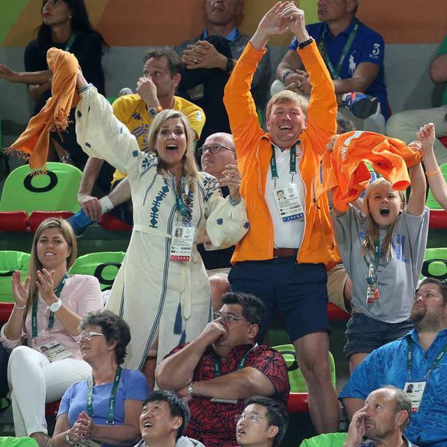 Королева Нидерландов надела в Рио платье-вышиванку украинского дизайнера. ФОТО