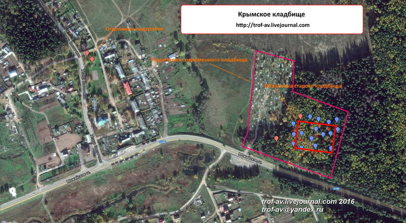 Схема Крымского кладбища
