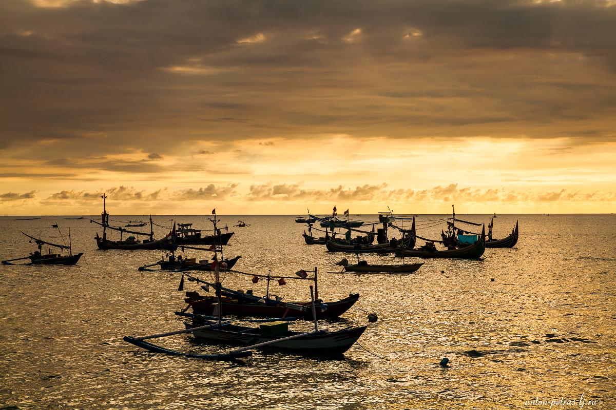 Пляж Джимбаран, Бали. Закат