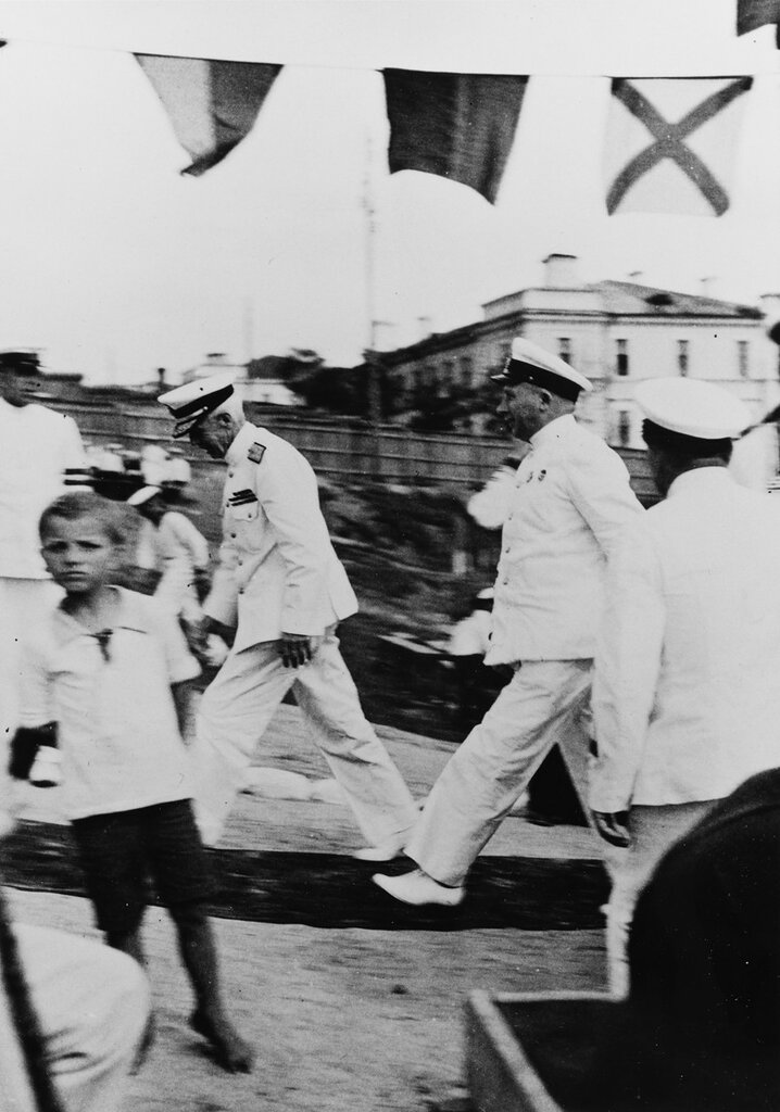 Admiral H.E. Yarnell, USN. And Russian Navy Vice Admiral Kireev, at Vladivostok, USSR, 29 July 1937.