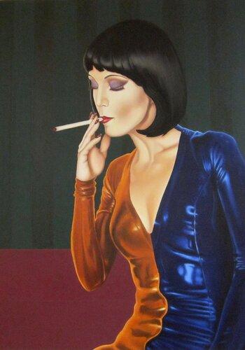 Василий Жеребило. Женщина с сигаретой.