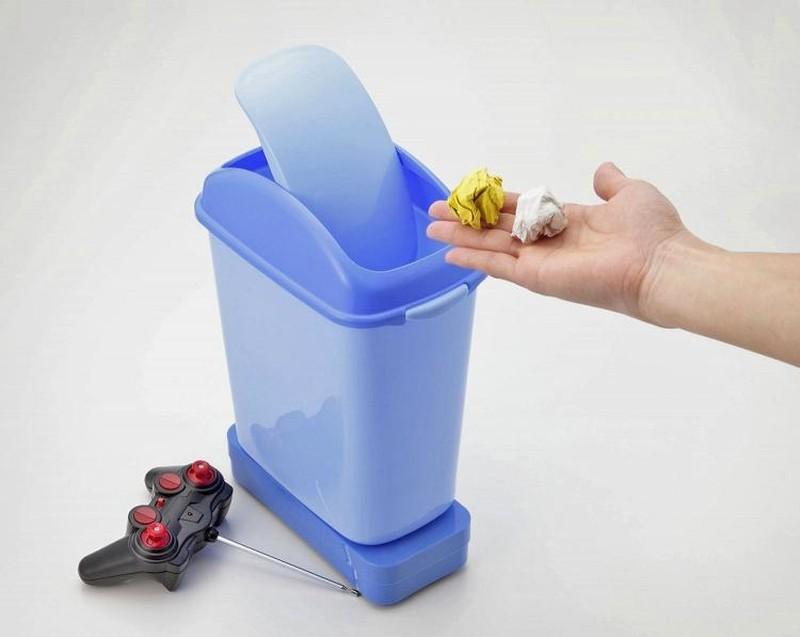 9. Мусорное ведро на радиоуправлении Мусорное ведро, которое самостоятельно приезжает за мусором.