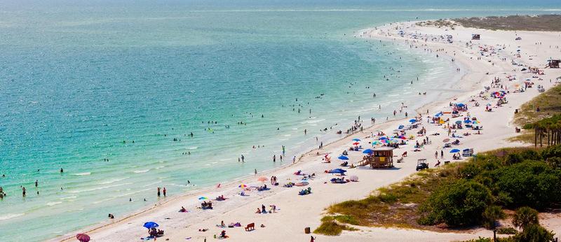 5. Сиеста-Бич, Сиеста-Ки, Флорида , США. Лучшее время для посещения: круглый год.