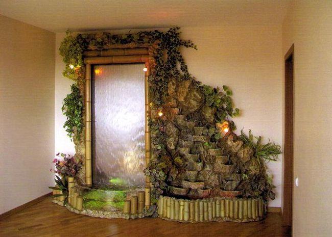 Водопады и фонтанчики Ну почему бы не сделать в обычной городской квартире неожиданные тропические о