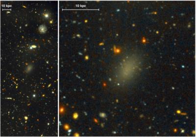 Найдена загадочная галактика, состоящая из черной материи