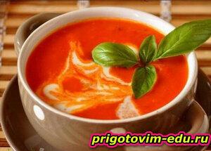 Вермишелевый томатный суп без мяса
