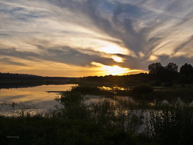 Закат над Лугой