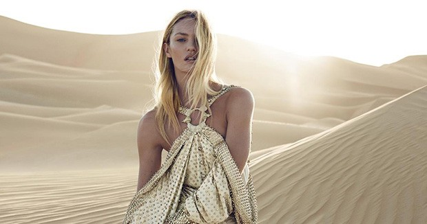 Angel Candice teamed up with fashion photographer Peter Lindbergh  and fashion stylist Carine Roitfe