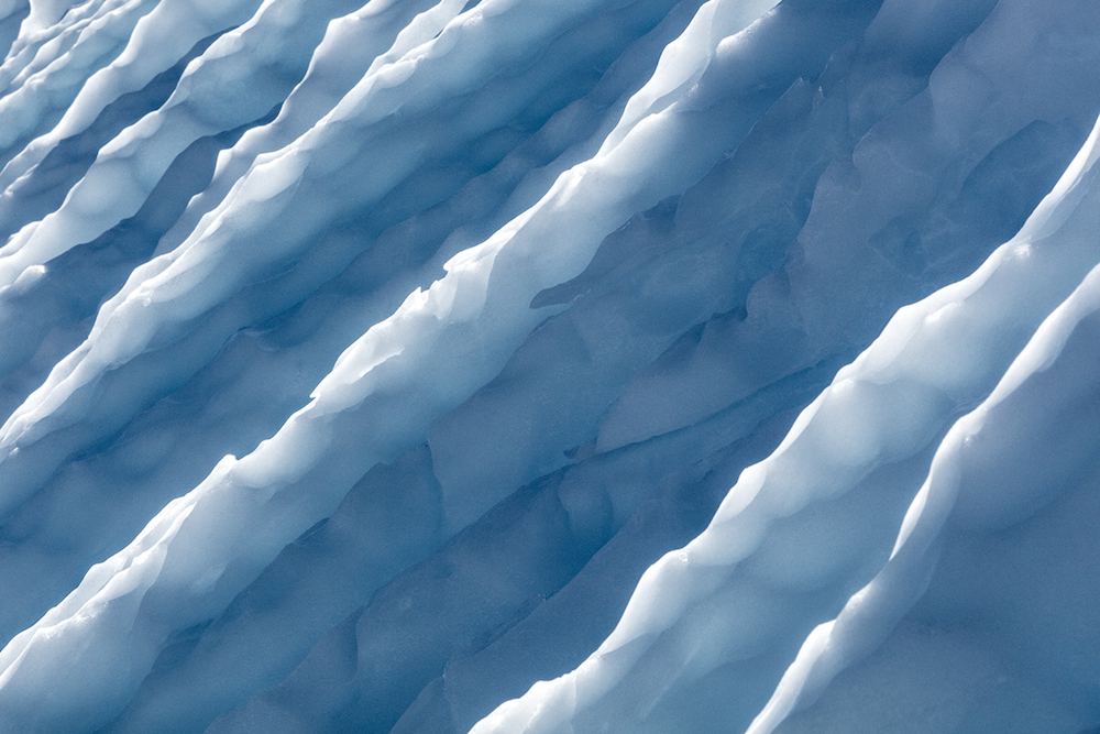 Photographs of Antarctica's Blue Ice at Eye Level by Julieanne Kost