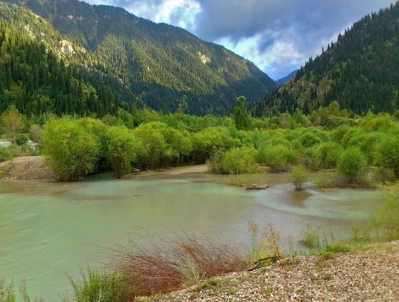 Превращение реки в озеро