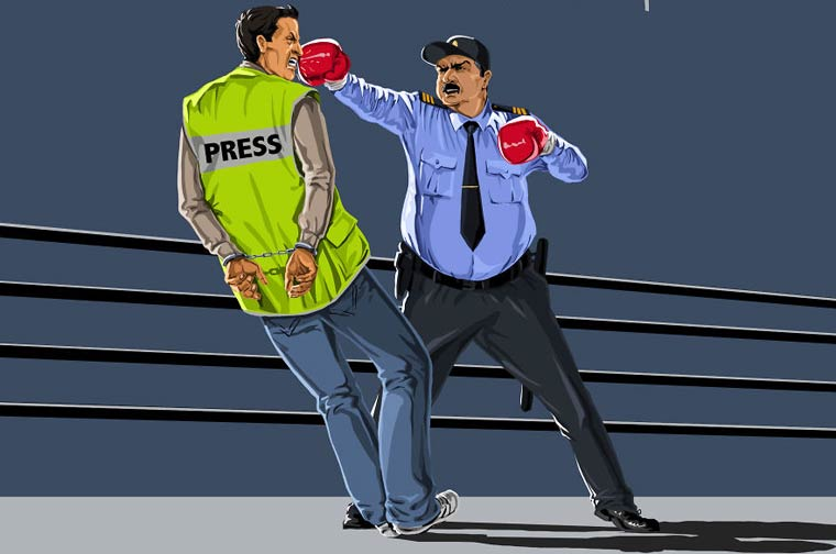 Global Police - Satirical illustrations on the cliches about police around the world