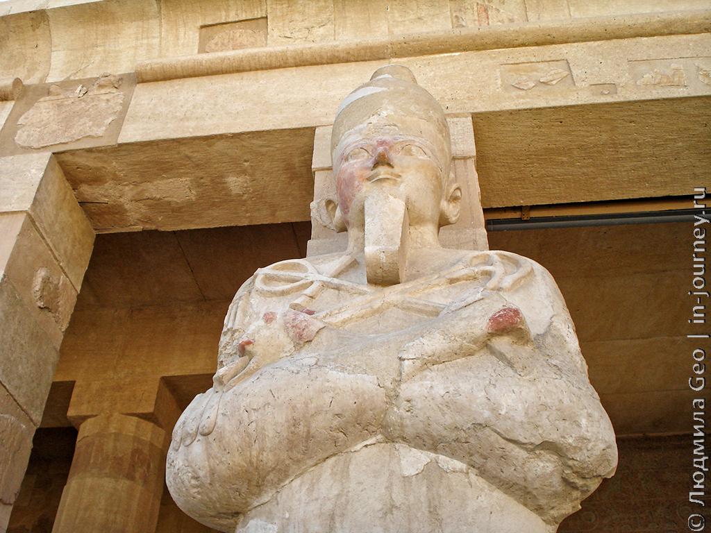 храм хатшепсут скульптура царя
