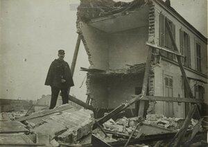 1916. 29 января. Урон, нанесенный дирижаблем. Улица   Боррего