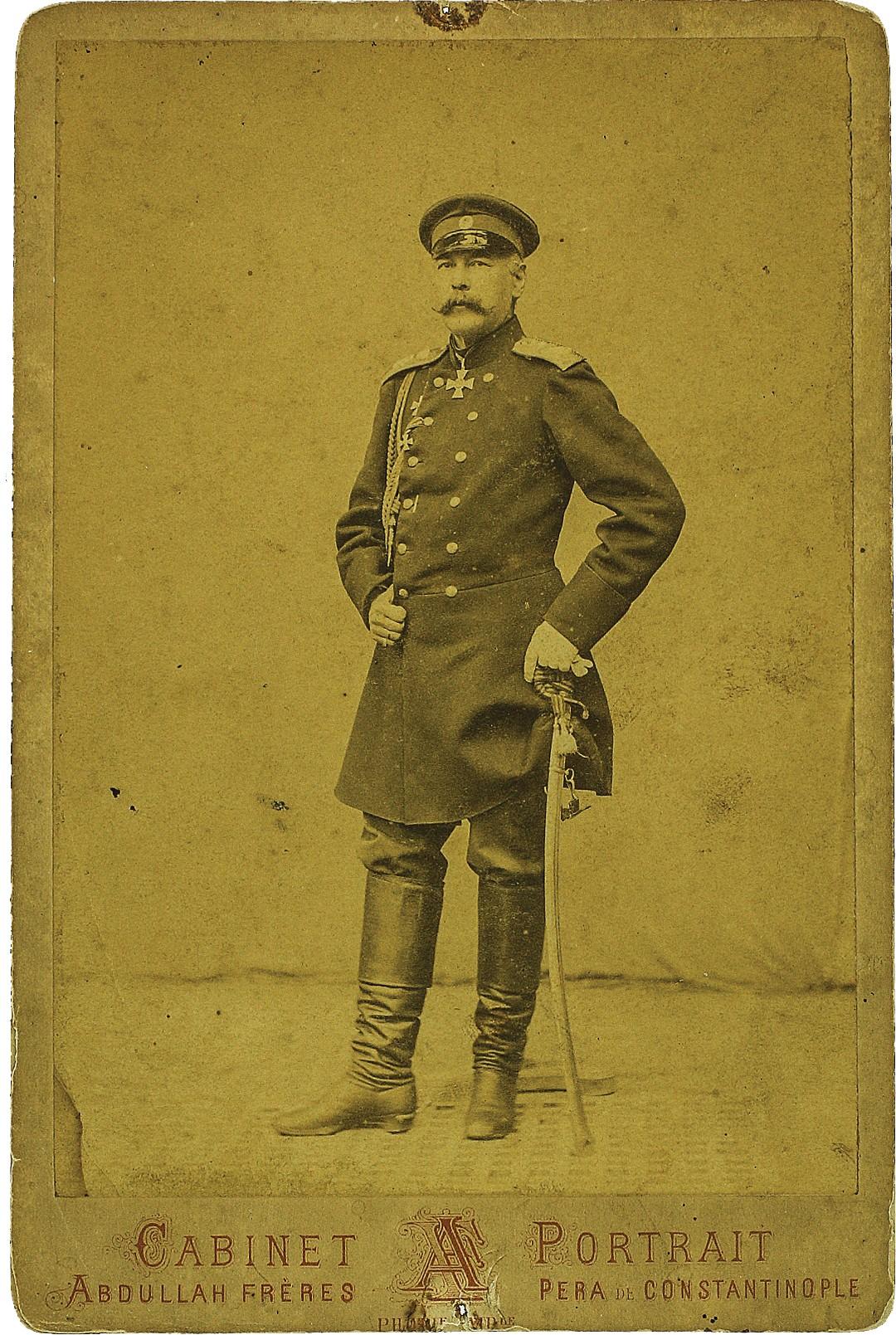Фото генерал-адъютанта, инженер-генерала Тотлебена Эдуарда Ивановича. 1878