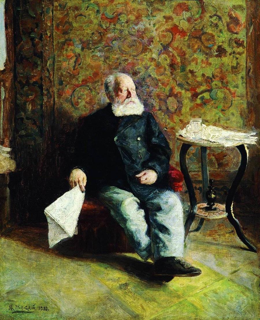 В швейцарской. 1893  Таганрогский художественный музей.