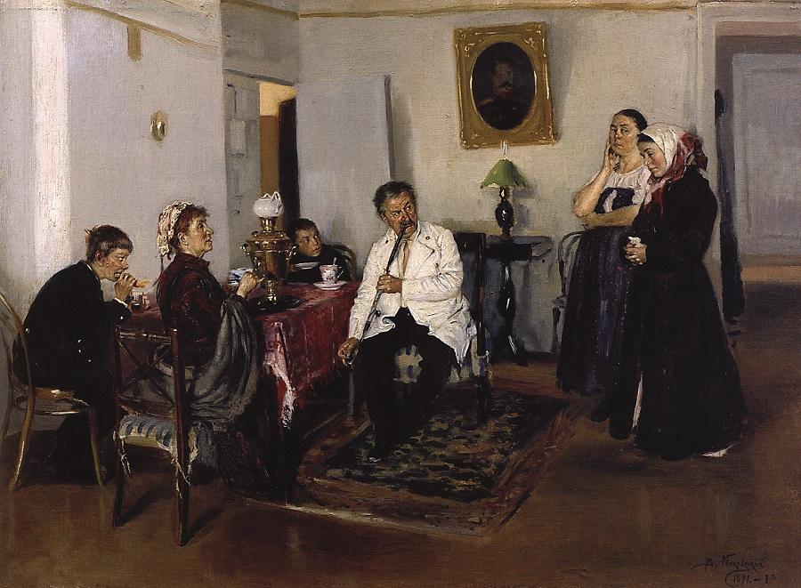 Наем прислуги. 1891 Пермская государственная художественная галерея.