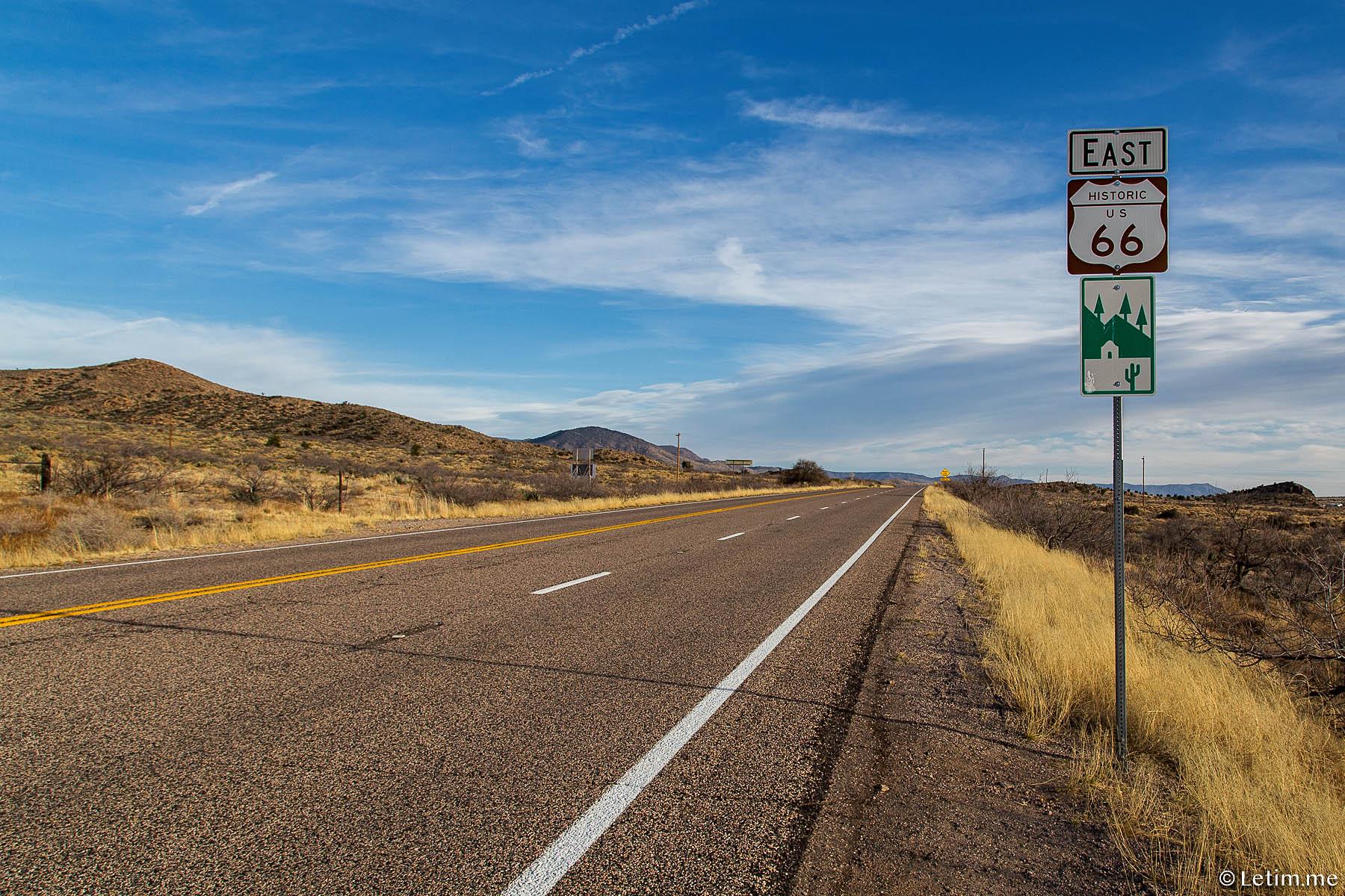 Route 66, Шоссе 66, Аризона
