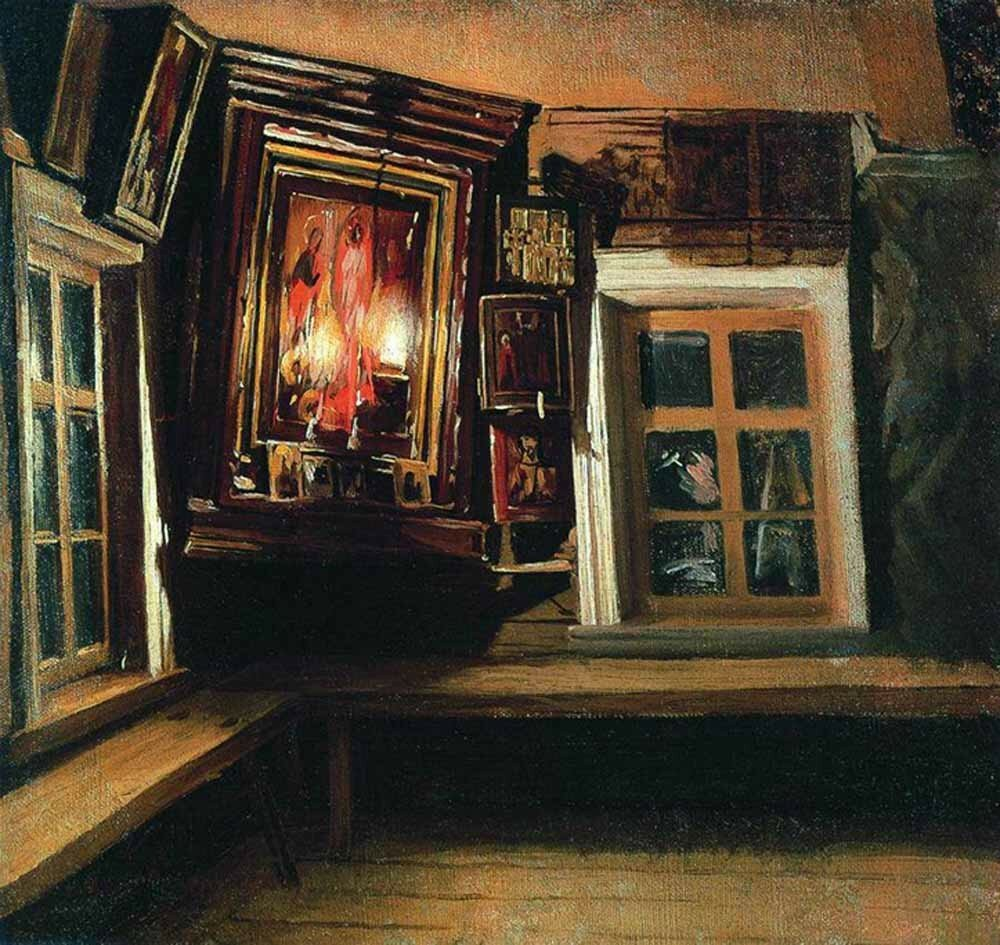 «Красный угол в избе»<br /> 1869