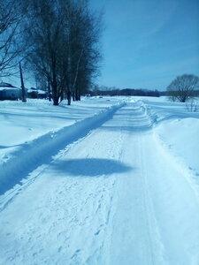 25 марта.Дорога на улицу Озёрная.