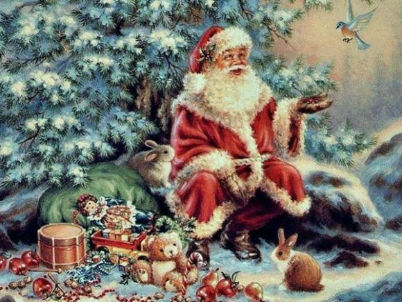 Открытка. День Рождения Деда Мороза. С праздником