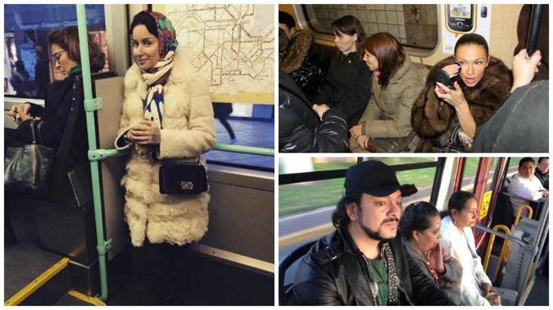 Звезды все же ездят в общественном транспорте (21 фото)