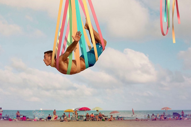 Rainbow-Colored Acrobatic Photography