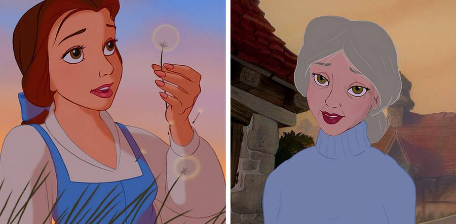 Disney Princesses In Their Old Age