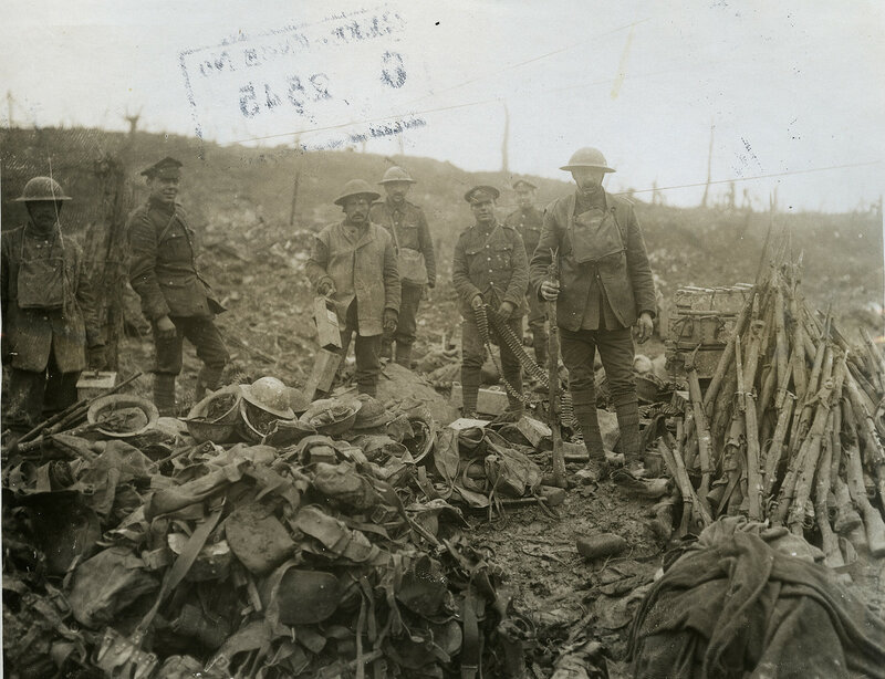 Salvage of the battlefield near Bapaume