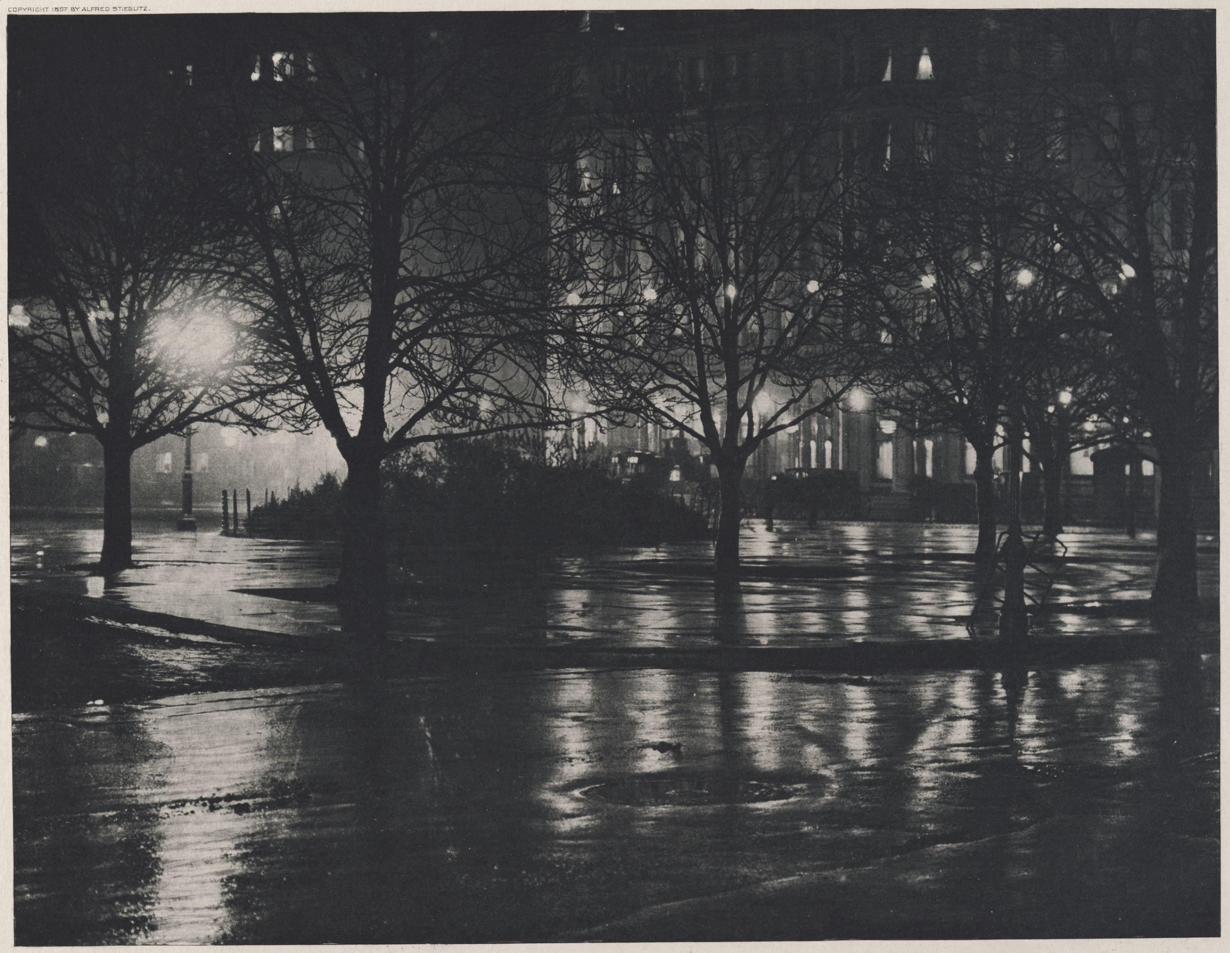 1897. Отраженния. Ночь в Нью-Йорке
