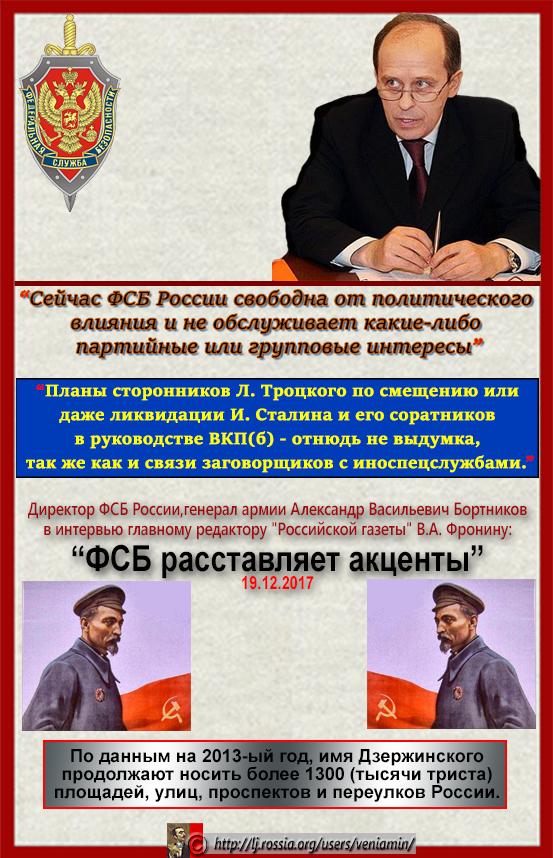 Бортников__ Троцкий и его сторонники были связаны  с иноспецслужбами.
