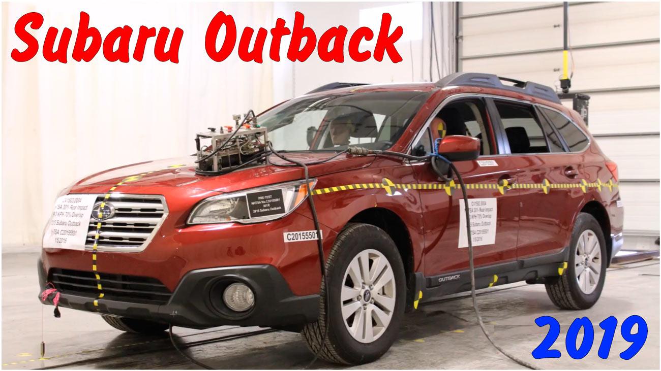 Задний краш-тест Subaru Outback 2019